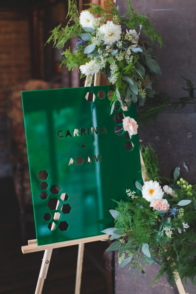 Michelle Edgemont Design 4 - Laser Cut Acrylic Wedding Sign