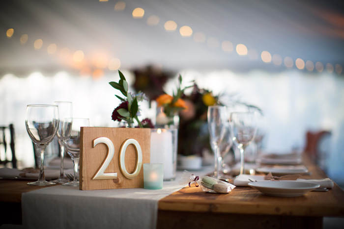 Michelle Edgemont Design 6 - Wood Brass Table Number