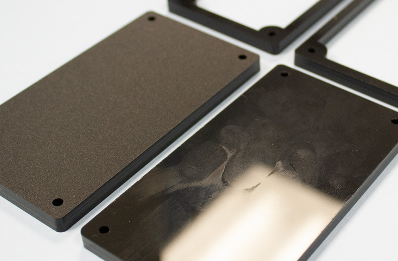 Matte Black Acrylic 2 - Fingerprints Comparison
