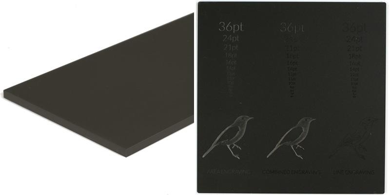 Matte Black Acrylic 7 - 6mm Sheet