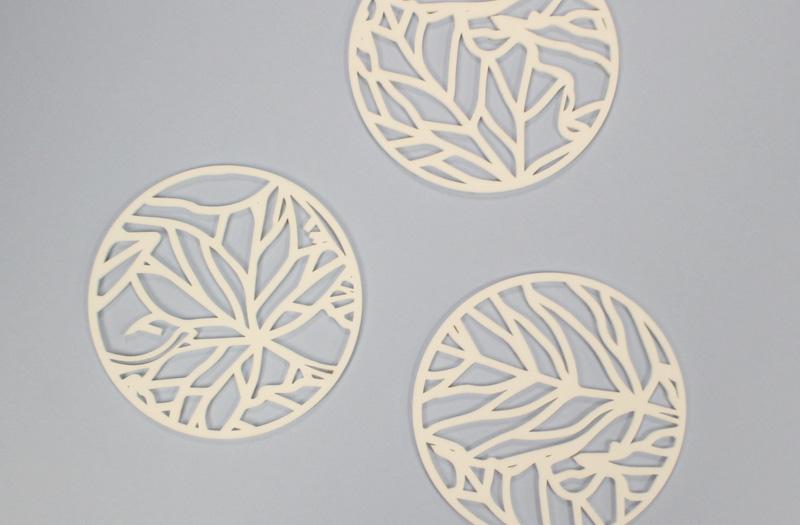 White Acrylic 3 - Coasters