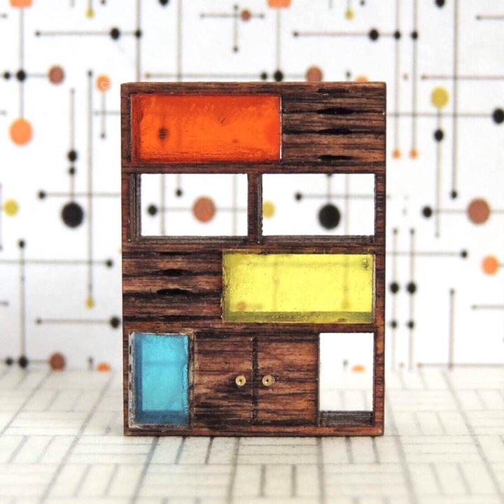 Faith Guynes 2 - Miniature Bookcase Color Inserts