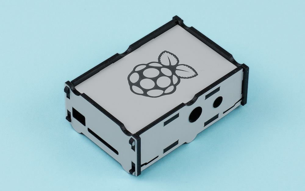 Two Color Acrylic 1 - Grey On Black Raspberry Pi Box