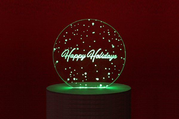 Holiday Deadlines 1 - LED Edge Lit Happy Holidays Sign