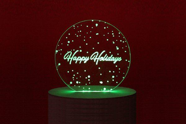 Holiday Deadlines 1 - LED Edge Lit Happy Holidays Sign