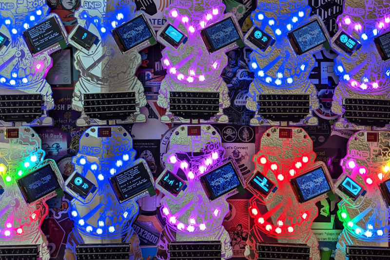 Electronic Event Badges 1 - DEFCON28 - Group