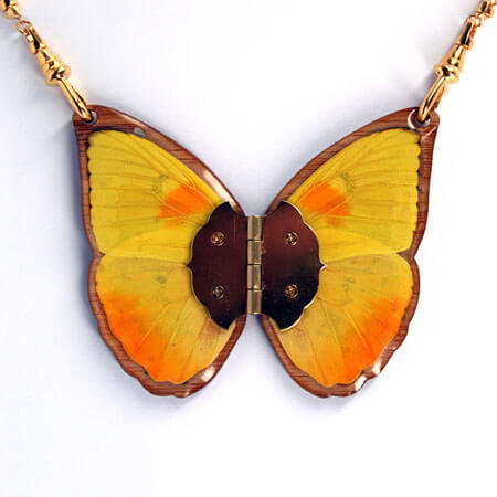 Unique laser cut butterfly jewelry